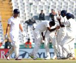 Ashwin celebrates wicket of Alastair Cook