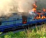 Samaleshwari Express engine catches fire in Odisha; 1 dead