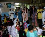 Dhirubhai Ambani's death anniversary - Nita Ambani visits children's home