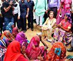 Nita Ambani meets flood victims of Banaskantha