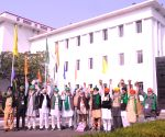 Farmer leaders arrive at Vigyan Bhawan to meet Union Ministers on farm laws