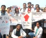 AIIMS doctors protest against NMC Bill