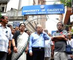 Asok Kumar Ganguly protest against TMC students agitation at Calcutta University