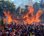 INDONESIA-RIAU-BAKAR TONGKANG FESTIVAL