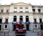 BRAZIL RIO DE JANEIRO NATIONAL MUSEUM FIRE AFTERMATH