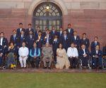 Rio Paralympian medallists meets President Mukherjee