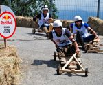 The wood wheeled racing cars
