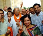 Bhola Yadav after filing nomination