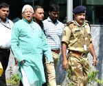 Lalu Yadav arrives at CBI headquarters