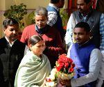 Rabri Devi arrives at state assembly
