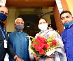 Rabri Devi arrives to attend joint session of Bihar Assembly