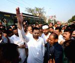 RJD's protest march - Tejashwi Yadav