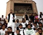 RJD's demonstration against farm laws at Gandhi Maidan