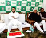 Jagada Nand Singh, Tejashwi Yadav at RJD meeting