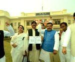 RJD demonstartion against demonetisation at Bihar Assembly