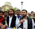 Bihar Assembly Winter Session: Tejashwi Yadav talks to the media