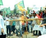 RJD's demonstration against the killing of Kota student Satya Prakash