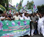 RJD workers demonstrate