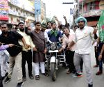 RJD's demonstration during Opposition's 'Bharat Bandh' protest against fuel price hike