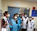 Free Photo: RML Hospital Staff before vaccination drive