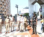 Roads go deserted as lockdown begins in Telangana