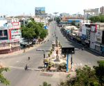 Deserted roads of Hyderabad
