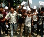 Roadside Vendors protest against GMDA