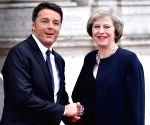 ITALY ROME MATTEO RENZI BRITAIN THERESA MAY MEETING
