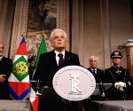 ITALY ROME PM DESIGNATE QUITTING