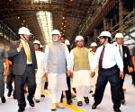 Modi visits the Rourkela Steel Plant