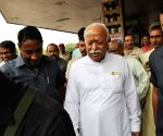 Mohan Bhagwat arrives in Patna