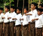 RSS volunteers during a programme