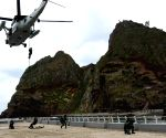 S.Korean Navy launches defence drills