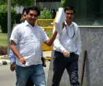Kapil Mishra at CBI office