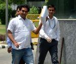 Kapil Mishra at CBI office