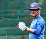 Sadden Park (Hamilton): MS Dhoni during a practice session