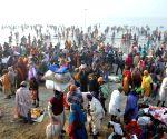Sagar Island: Lakhs take holy dip in Ganga on Makar Sankranti