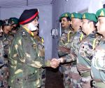 Lt Gen G S Shergill meets soldiers