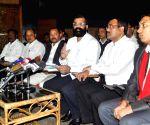 Samujjal Bhattacharya addressing a press conference