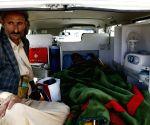 Yemen sanaa wounded Houthis evacuation