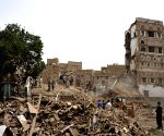 YEMEN SANAA OLD CITY AIR STRIKES