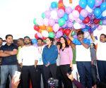 Sania Mirza, KTR, Ram Charan and Raashi Khanna at 10K Run