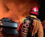 U.S.-SANTA CRUZ ISLAND-CALIFORNIA-BOAT FIRE