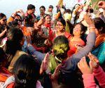 Saraswati idol immersions