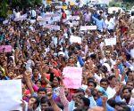Sarva Shiksha Abhiyan contractual teachers' demonstration