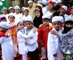 School children during a function on the eve of Eid