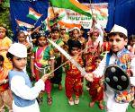 School children celebrate Independence Day and Raksha Bandhan
