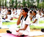 BJP criticises Raj education minister for changing school timetable for Yoga Day