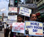 World Suicide Prevention Day - students participate in awareness rally on Blue Whale