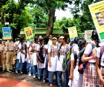 International Tiger Day - Students during 'Save Tigers' awareness rally